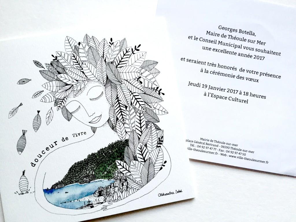 carte de voeux – theoule-sur-mer – olalarte