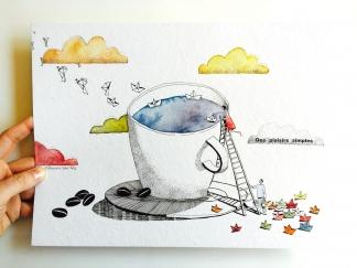 ILLUSTRATION POUR MALONGO CAFE – JUILLET AOUT