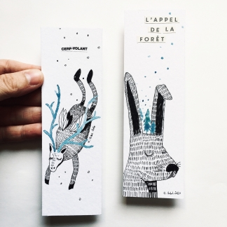 MINI-ILLUSTRATION MARQUE-PAGES ANIMAUX