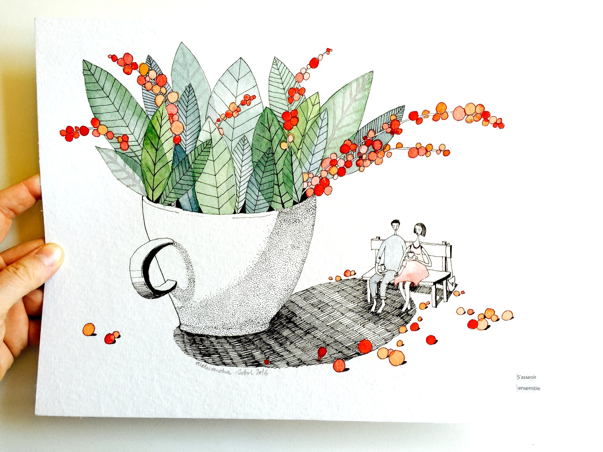 ILLUSTRATION POUR MALONGO CAFE – MAI JUIN