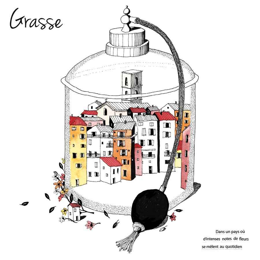 CARTE POSTALE – GRASSE