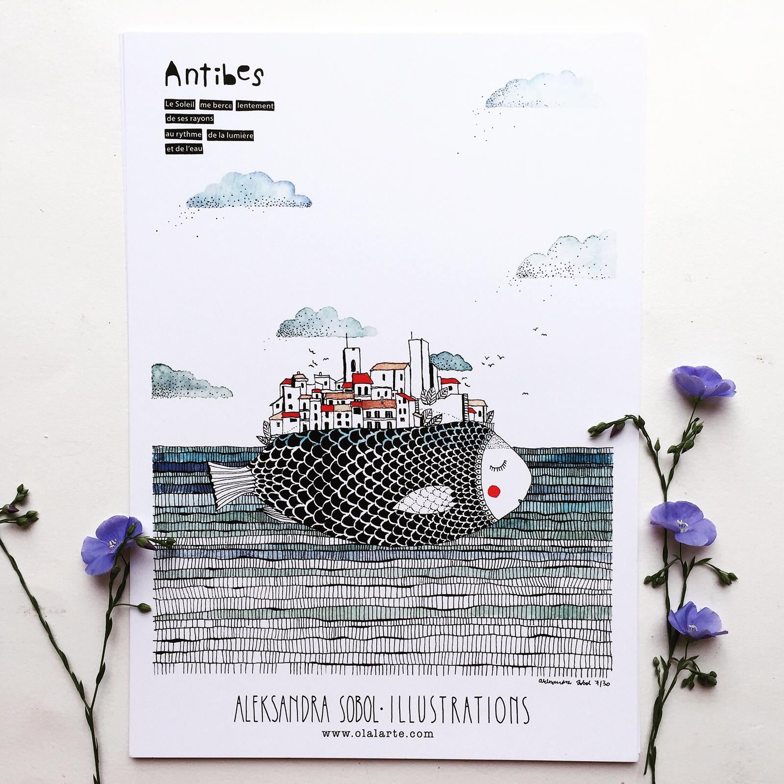 AFFICHE – ANTIBES