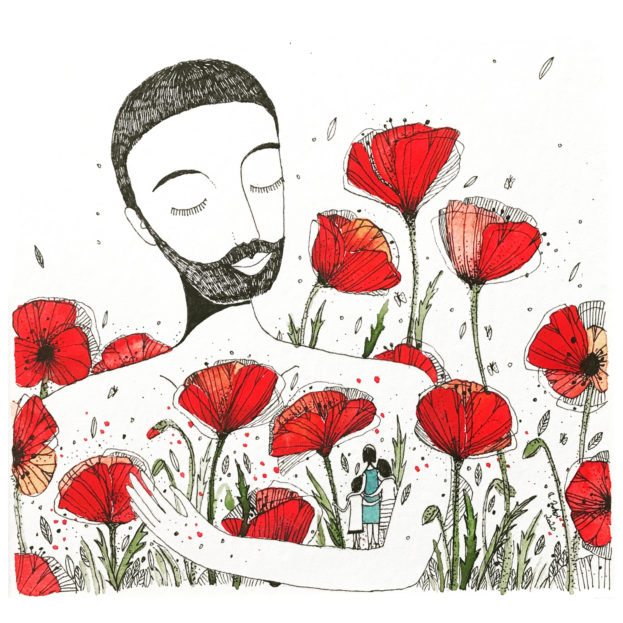 ILLUSTRATION – COQUELICOTS